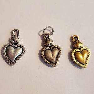 SACRED HEART FLAME DANGLE FOR BRACELETS & EARRINGS